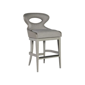 Signature Designs Cerused White Gray Zeitgeist Swivel Bar Stool