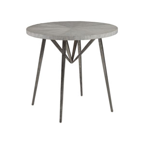 Signature Designs White and Gray Alfie Round End Table