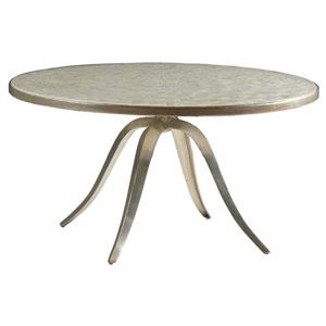 Signature Designs Champagne Capiz Round Cocktail Table