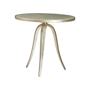 Signature Designs Champagne Capiz Round End Table