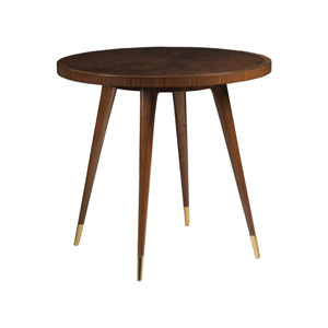 Signature Designs Black Walnut Marlowe Round End Table