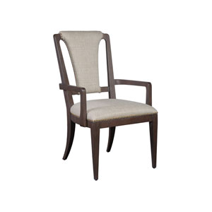 Signature Designs Dark Oak Verbatim Upholstered Arm Chair