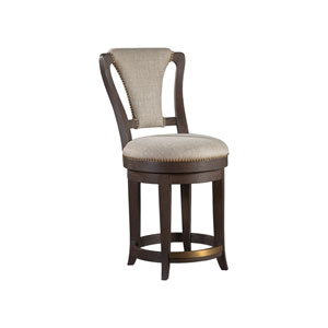 Signature Designs Dark Oak Verbatim Swivel Counter Stool