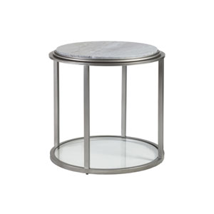 Signature Designs Antique Silver Treville Round End Table