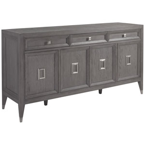 Signature Designs Gray and Brushed Nickel Appellation Buffet