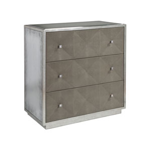 Signature Designs Warm Gray and Polished Nickel Ascension Hall Chest