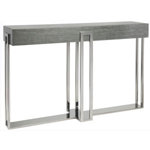 Signature Designs Gray and Silver Iridium Console Table