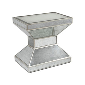 Signature Designs Silver Metropole Rectangle End Table