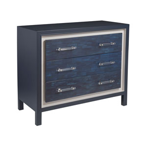 Signature Designs Navy and Polished Nickel Invicta Hall Chest