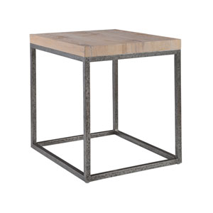 Signature Designs Natural and Distressed Iron Foray Square End Table