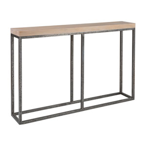 Signature Designs Natural and Distressed Iron Foray Console Table