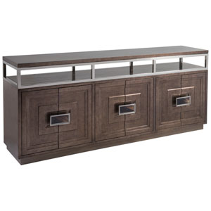 Signature Designs Brown and Silver Viscount Media Console