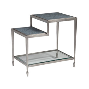 Signature Designs Antique Silver and Soft Gray Sashay Rectangle End Table