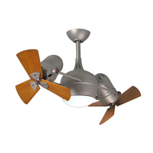 Dagny Brushed Nickel 38-Inch Rotational Ceiling Fan with Light Kit