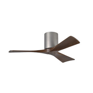 Irene-H 3 Brushed Nickel 42-Inch Hugger-Style Ceiling Fan with Wood Blades