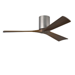 Irene Brushed Nickel 52-Inch Ceiling Fan with Three Walnut Tone Blades