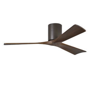 Irene-H 3 Textured Bronze 52-Inch Hugger-Style Ceiling Fan with Wood Blades