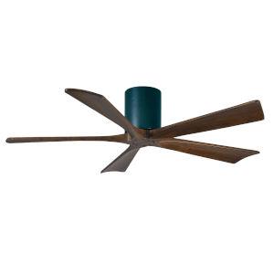 Irene Matte Black 52-Inch Ceiling Fan with Five Walnut Tone Blades