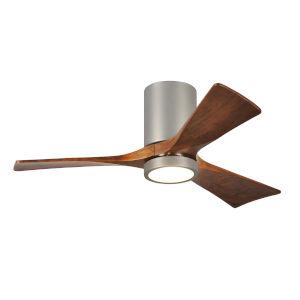Irene Brushed Nickel 42-Inch Ceiling Fan with Three Walnut Tone Blades