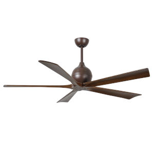 Irene  60-Inch Ceiling Fan with Five Walnut Tone Blades
