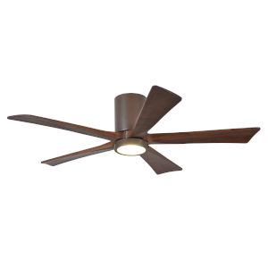 Irene Textured Bronze 52-Inch Ceiling Fan with Five Walnut Tone Blades