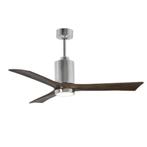 Patricia Three Blade Polished Chrome 52-Inch LED One-Light Ceiling Fan