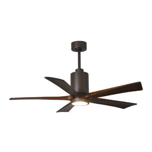 Patricia Five Blade Textured Bronze 52-Inch LED One-Light Ceiling Fan