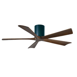 Irene Matte Black 60-Inch Ceiling Fan with Five Walnut Tone Blades