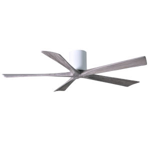 Irene Gloss White 60-Inch Ceiling Fan with Five Barnwood Tone Blades