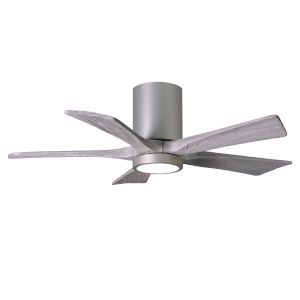 Irene Brushed Nickel 42-Inch Ceiling Fan with Five Barnwood Tone Blades