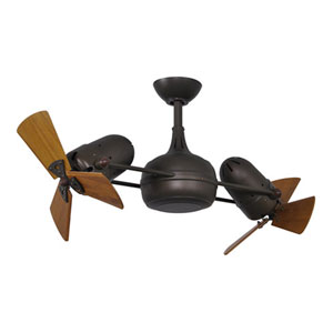 Dagny Matte Black LED Rotational Ceiling Fan with Barn Wood Tone Wood Blades