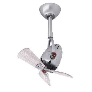 Diane Brushed Nickel Oscillating Directional Ceiling Fan with Barn Wood Tone Wood Blades