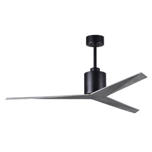 Eliza Matte Black 56-Inch Ceiling Fan with Barn Wood Blades