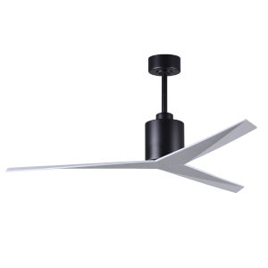 Eliza Matte Black 56-Inch Ceiling Fan with Gloss white Blades