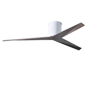 Eliza Gloss White 56-Inch Flush Mount Ceiling Fan