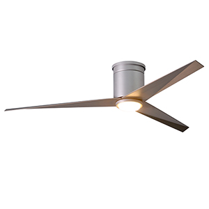 Eliza-HLK Brushed Nickel 56-Inch LED Ceiling Fan with Gray Ash Tone Blades