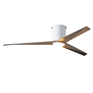 Eliza-HLK Gloss White 56-Inch LED Ceiling Fan with Gray Ash Blades