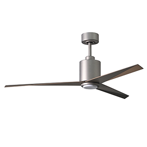 Eliza-LK Brushed Nickel 56-Inch LED Ceiling Fan with Gray Ash Blades