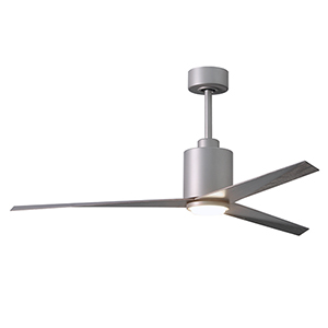 Eliza Brushed Nickel 56-Inch Adjustable Ceiling Fan with Frosted Glass LED Light Kit