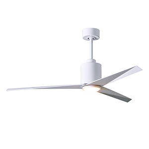 Eliza-LK Gloss White 56-Inch LED Ceiling Fan with Gloss White Blades