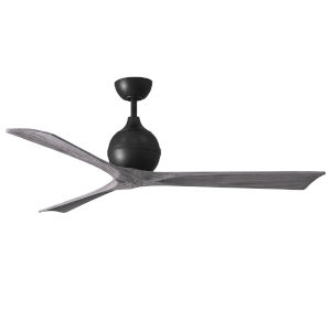 Irene-3 Matte Black and Barnwood 60-Inch Outdoor Ceiling Fan