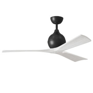 Irene-3 Matte Black and Matte White 52-Inch Outdoor Ceiling Fan
