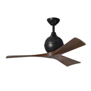 Irene-3 Matte Black and Walnut 42-Inch Outdoor Ceiling Fan