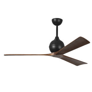 Irene-3 Matte Black and Walnut 60-Inch Outdoor Ceiling Fan