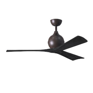 Irene-3 Textured Bronze and Matte Black 52-Inch Outdoor Ceiling Fan
