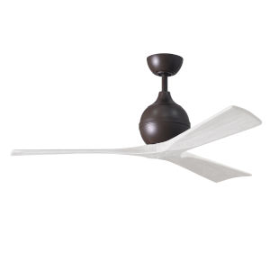 Irene-3 Textured Bronze and Matte White 52-Inch Outdoor Ceiling Fan