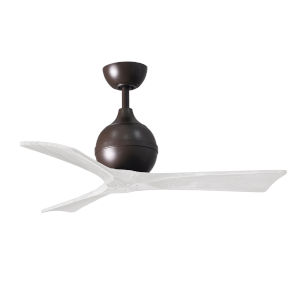 Irene-3 Textured Bronze and Matte White 60-Inch Outdoor Ceiling Fan
