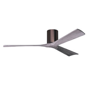 Irene-3H Brushed Bronze and Barnwood 60-Inch Outdoor Ceiling Fan
