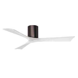 Irene-3H Brushed Bronze and Matte White 52-Inch Outdoor Ceiling Fan