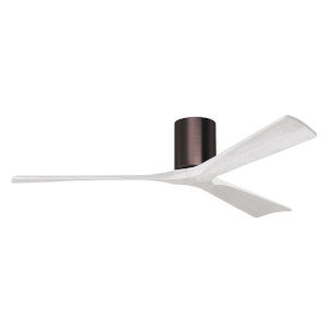 Irene-3H Brushed Bronze and Matte White 60-Inch Outdoor Ceiling Fan